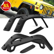 """6Pcs 7"""" Wide Black Pocket Extended Fender Flares For 97-06 Jeep Wrangler TJ"""