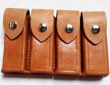 Mauser Quadruple Pacote Clipe de Munição de couro Real Fabricante