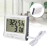 LCD Digital Thermometer Hygrometer Indoor Outdoor Humidity Temperature Meter
