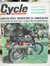 Cylce Magazine, Jan 1967, Jawa 250 Trials, Bridgestone 175, Hercules 100   box 9