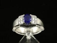 Bucherer Saphir Brillant Ring ca. 1,38ct 10,7g 750/- Weißgold große Ringweite 62