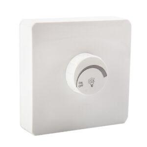 LED-Dimmer Schalter Aufputz Weiß Für Dimmbare LED Lampe 1 bis 400W Drehdimmer-*