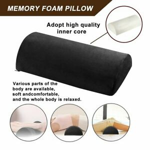 Pillow Back Pain Relief Memory Foam Half Moon Support Lumbar Bolster Leg Knee Y1