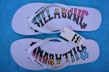 New Billabong ARCH Logo Surf Thongs Mens Size 15. White/Multi. Quality Surfwear