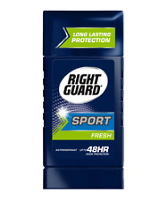 3 Pack Right Guard Sport Fresh Invisible Solid Antiperspirant 1.8 Oz each