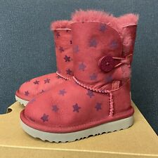 New listing Ugg Kids Toddler Bailey Button Stars pink Size 8