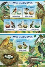 Birds Vögel Eggs Eier Animals Fauna Guinea-Bissau MNH stamp set