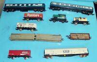 11 Ancienne maquette Ferroviaire jouet Wagon Jouef citerne STEF Porte voiture