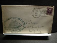 USS CONSTITUTION Naval Cover 1932 NAVY DAY Cachet WASHINGTON, DC Frigate