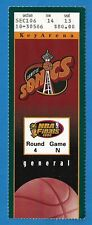 Michael Jordan 1996 NBA Finals Game #5 Ticket Stub Chicago Bulls Seattle Sonics