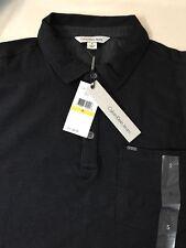 "Calvin Klein summer Men's "" Slim fit"" Cotton Polo Shirt Black logo  Size Small"