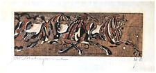 Running Horses (B) by Tadashi Nakayama ORIGINAL Woodblock Print