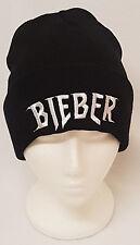 JUSTIN BIEBER Tour ricamato Bieber Purpose Logo Nero Cappello Beanie Cap Taglia Unica