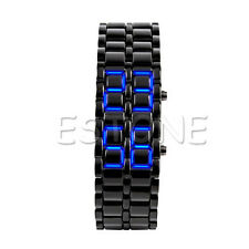 Fashion Volcanic Iron Lava Samurai Metal Faceless Bracelet LED Metal Wrist Watch