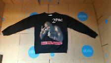 "2 PAC ""All Eyez On Me"" Small Crew Neck Sweatshirt Gangsta Rap Shakur 2013"