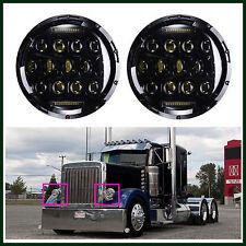 7'' LED Round Headlights Hi/Lo Beam DRL Driving Lamp 2Pcs For Peterbilt 379 359