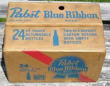 Pabst Blue Ribbon Vintage Returnable Cardboard Beer Bottle Case