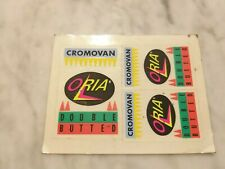 Nos  Oria Cromovan Double Butted Decal Sticker Vintage L'Eroica