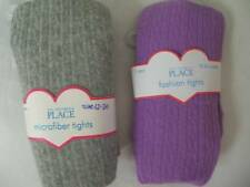 Lot 2 NEW Girls 12/24 mo Winter Tights Childrens Place Purple and Gray
