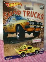 SUBARU BRAT☆Yellow;SOOBY'S Off Road☆2018 Hot Wheels SHOP TRUCKS Car Culture case