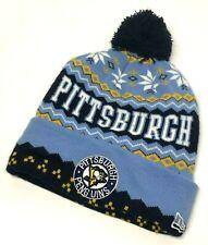 Blue Pittsburgh Penguins NHL Pom Knit Winter Hockey Ski Cuff Beanie Adult