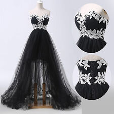 Retro Tulle Formal Ball Prom Evening Gown Cocktail Wedding Long Masquerade Dress