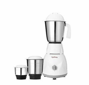 Lifelong Power Pro 500-Watt Mixer Grinder with 3 Jars ( White )