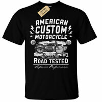 American Custom Motorcycle T-Shirt biker rider usa mens