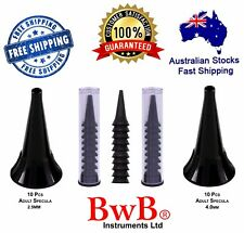 DISPOSABLE OTOSCOPE SPECULA Tube 20 pcs for BWB mini otoscope size 2.5mm and 4mm