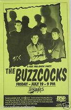 THE BUZZCOCKS 1990 TIJUANA, MEXICO CONCERT TOUR POSTER - Group & Their Shadows