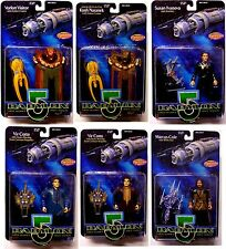 Babylon 5 Ser 2 Action Figure Set of 6 with Kosh Cotto Ivanova Cole etc.