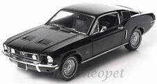 GREENLIGHT 12843 1968 68 FORD MUSTANG GT 2+2 FASTBACK 1/18 DIECAST BLACK