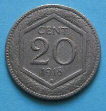 20 Centesimi ESAGONO regno d'Italia 1918/ - Vittorio Emanuele III R LISCIO - BB+