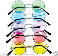 John Lennon Sunglasses Round Hippie Retro Shades  Colored Lenses Free Shipping