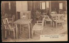 SS Paris Terrace Cafe Postcard - French Line