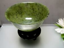 Natural Chinese antique old Jade thin bowl collectible