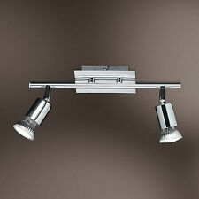 WOFI Plafonnier LED Spot Solution 2 FLG Luminaire chrome 763402010000