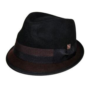 Alastair Twotone Stingy Brim Wool Felt Trilby Hat for Men & Women