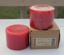 2 New Longaberger Pint Size Pillar Candle Cinnamon Stick 3 1/2""