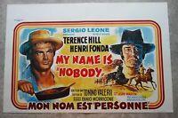 MY NAME IS NOBODY Sergio Leone western original belgian movie poster '73