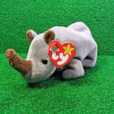 MWMT Ty Beanie Baby Spike The Rhinoceros Retired PE Rhino Plush Toy - SHIPS FREE