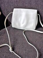 LADIES ELEGANT PALEST CREAM TULA GENUINE LEATHER BAG WITH LONG SHOULDER STRAP