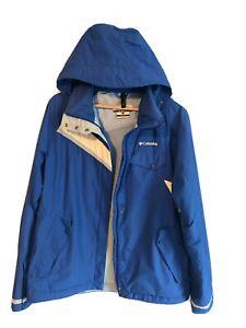 Women's Vtg Columbia Full Waterproof Raincoat Coat Jacket Festival Hiking Large