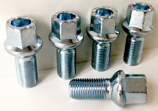5 x wheel bolts nuts lugs M14 x 1.5, 17mm Hex, 27mm thread, Radius seat.