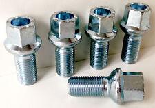 5 x alloy wheel bolts nuts lugs M14 x 1.5, 17mm Hex, 27mm thread, Radius seat.