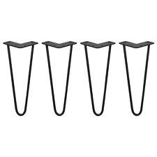 4 Gambe per Tavolo a Forcina SkiSki Legs 30,5cm Acciaio Nero 2 Rebbi 10mm