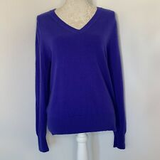 AUTOGRAPH Purple Rain 100% Cashmere V-Neck Knitted Jumper Size 14