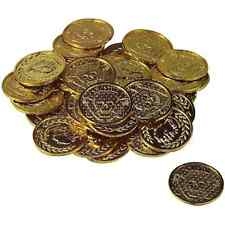 Pirate Treasure Gold Coins 144 pc. Party Favor Toy Halloween Costume Accessory