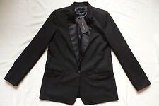 ZARA CLASSIC BUSINESS TAILORED BLACK  JACKET UK 6-8 REF 8143/683