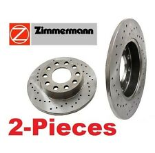 2-Pieces OEM Zimmermann Brand Made in Germany Front Brake Disc Rotors